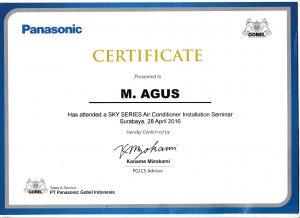 sertifikat pelatihan ac